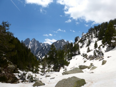 Camí al mirador de l'estany. Parc Nacional d'Aigüestortes