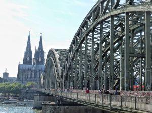 Pont sobre el Rin i la catedral de Colònia